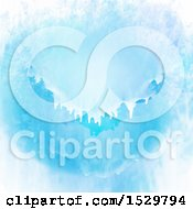 Clipart Of A Blue Watercolor Paint Background Royalty Free Vector Illustration