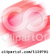 Clipart Of A Pink And Red Watercolor Paint Background Royalty Free Vector Illustration