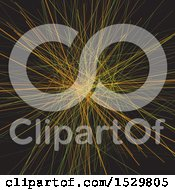 Clipart Of A Chaotic Lines Background Royalty Free Vector Illustration