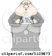 Clipart Of A Fat Politician Giving A Speech Royalty Free Vector Illustration