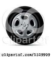 Clipart Of A Car Rim And Tire Royalty Free Vector Illustration