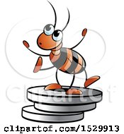 Poster, Art Print Of Red Ant On Plate Weights