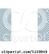 Blue And White Lattice Background Or Business Card Design