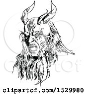 Black And White Horned Devil