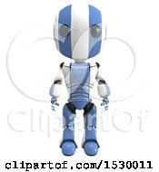 Clipart Of A 3d Ao Maru Robot Royalty Free Illustration