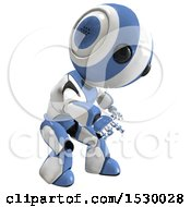 Clipart Of A 3d Curious Ao Maru Robot Royalty Free Illustration