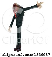 Clipart Of A 3d Professional Parasite Ranting Royalty Free Illustration
