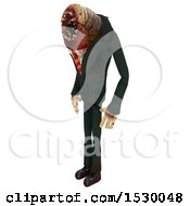 Clipart Of A 3d Professional Parasite Royalty Free Illustration