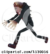 Clipart Of A 3d Professional Parasite Running Royalty Free Illustration