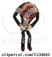 3d Professional Parasite Bent Over In Pain