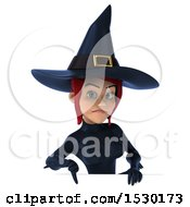 Clipart Of A 3d Sexy Blue Witch On A White Background Royalty Free Illustration