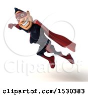 Clipart Of A 3d Buff White Male Maroon Super Hero On A White Background Royalty Free Illustration