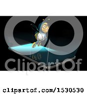Poster, Art Print Of 3d Smart Phone With A Doctor Bee Emerging From The Screen
