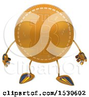Clipart Of A Bitcoin Mascot On A White Background Royalty Free Illustration by Julos