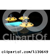 3d Smart Phone With Aliens Flying UFOs And Emerging From The Screen