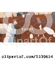 Clipart Of A 3d City Road Made Of Wood Royalty Free Illustration