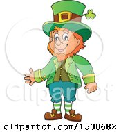 Clipart Of A St Patricks Day Leprechaun Royalty Free Vector Illustration by visekart