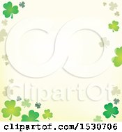 Clipart Of A Border Of St Patricks Day Clover Shamrocks Royalty Free Vector Illustration