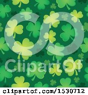 Clipart Of A Seamless Shamrock Clover St Patricks Day Background Pattern Royalty Free Vector Illustration by visekart