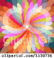 Clipart Of A Colorful Flower Petal Background Royalty Free Vector Illustration