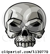 Clipart Of A Stylised Human Skull Royalty Free Vector Illustration