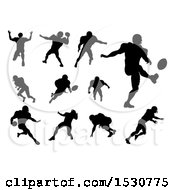 Poster, Art Print Of Silhouetted Football Players
