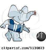 Poster, Art Print Of Cartoon Elephant Bowling