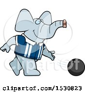Cartoon Elephant Bowling