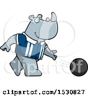 Poster, Art Print Of Cartoon Rhino Bowling