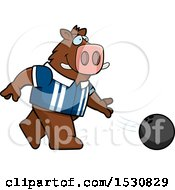 Poster, Art Print Of Cartoon Boar Bowling
