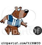 Poster, Art Print Of Cartoon Bear Bowling