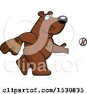 Clipart Of A Cartoon Bear Baseball Pitcher Royalty Free Vector Illustration