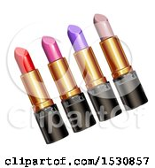 Clipart Of Lipstick Tubes Royalty Free Vector Illustration