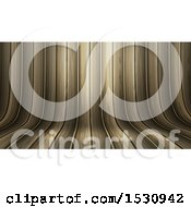 Poster, Art Print Of 3d Curved Background