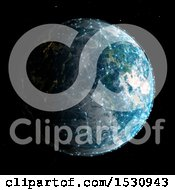 Clipart Of A 3d Planet With Connections Royalty Free Illustration