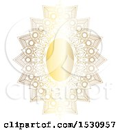 Clipart Of A Gradient Golden Ornate Frame Royalty Free Vector Illustration by KJ Pargeter