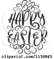 Clipart Of A Happy Easter Design Royalty Free Vector Illustration