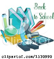 Clipart Of A Back To School Design Royalty Free Vector Illustration by Vector Tradition SM