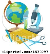 Clipart Of A Back To School Design Royalty Free Vector Illustration