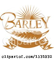 Clipart Of A Brown Barley Design Royalty Free Vector Illustration