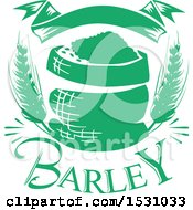 Clipart Of A Green Barley Design Royalty Free Vector Illustration
