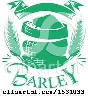 Poster, Art Print Of Green Barley Design