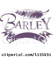 Clipart Of A Purple Barley Design Royalty Free Vector Illustration