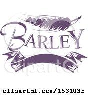 Poster, Art Print Of Purple Barley Design