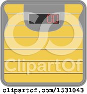 Clipart Of A Body Weight Scale Royalty Free Vector Illustration
