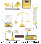 Clipart Of Measuring Tools Royalty Free Vector Illustration