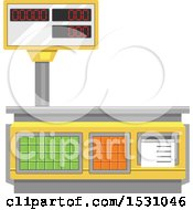 Clipart Of A Measuring Tool Royalty Free Vector Illustration
