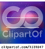 Clipart Of A Label Over A Galaxy Background Royalty Free Vector Illustration