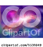 Clipart Of A Colorful Galaxy Royalty Free Vector Illustration