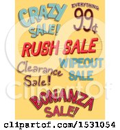Poster, Art Print Of Sale Labels On Yellow